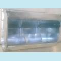 Бункерная навесная кормушка для кроликов. Ширина 350мм. Трех-секционная,без крышки.