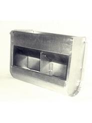 Бункерная навесная кормушка для кроликов. Ширина 300мм. Двух-секционная,без крышки.