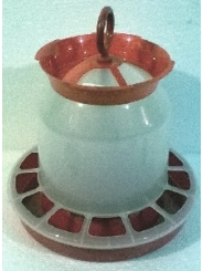 Бункерная кормушка для птицы, объем 5 литров